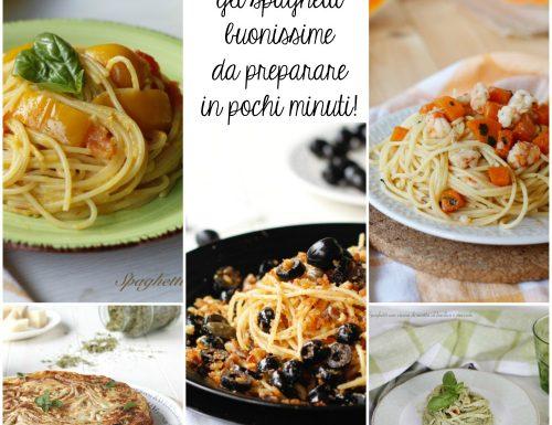 5 Ricette veloci con gli spaghetti