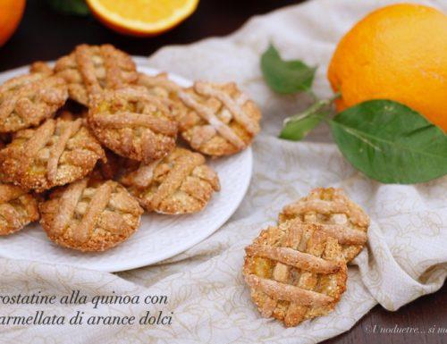 Crostatine alla quinoa con marmellata di arance