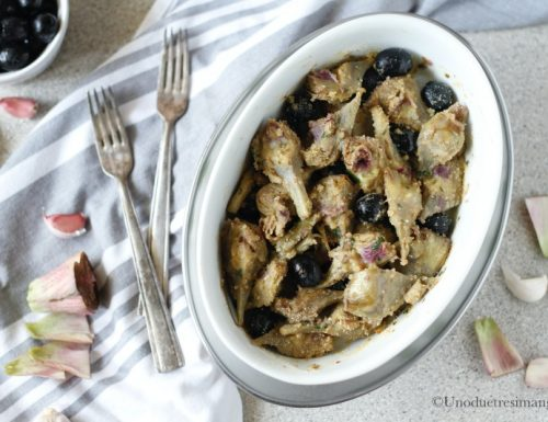 Carciofi gratinati con le olive