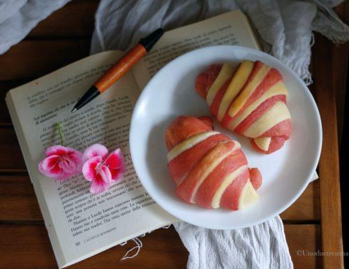 Cornetti brioche variegati alla panna