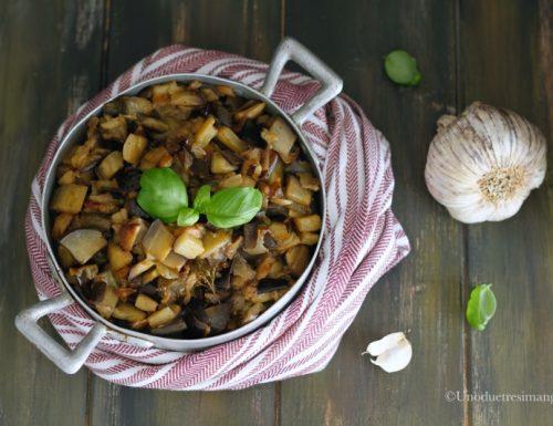 Melanzane a funghetto – ricetta in bianco