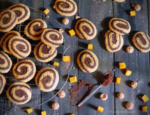Biscotti alla zucca con cacao e amaretti
