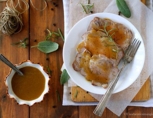 Arrosto di maiale in salsa di senape e miele