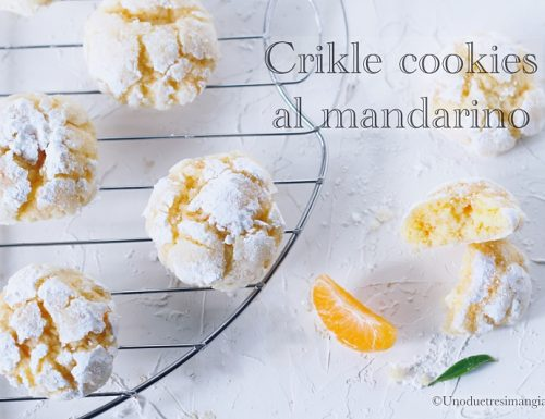 Biscotti morbidi – Crinkle cookies al mandarino