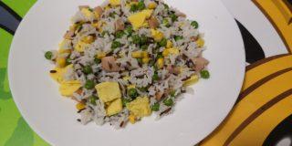insalata di riso basmati e riso rosso