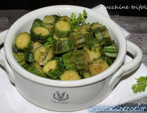 Zucchine trifolate con Parmigiano