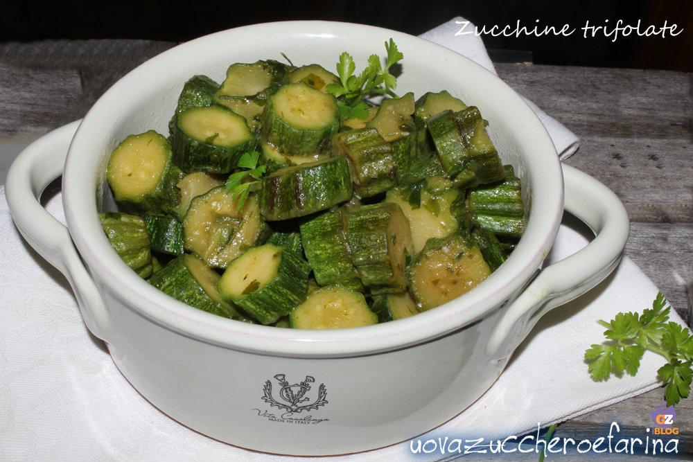 zucchine trifolate Parmigiano prezzemolo
