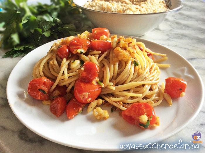 spaghetti integrali al profumo di finocchio
