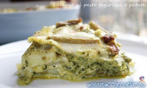 Lasagne al pesto fagiolini e patate