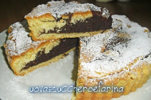 crostata al cioccolato con pasta frolla alla ricotta