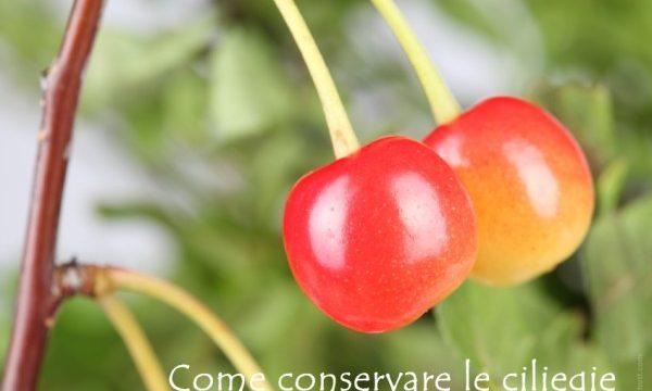 Conservare le ciliegie, idee in dispensa