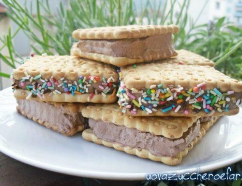 Biscotti gelato al cioccolato