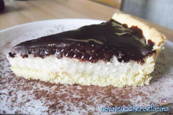 cioccococco crostata cioccolato e cocco fetta