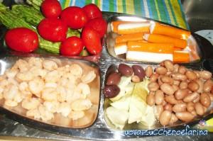 pasta fredda con gamberetti e surimi