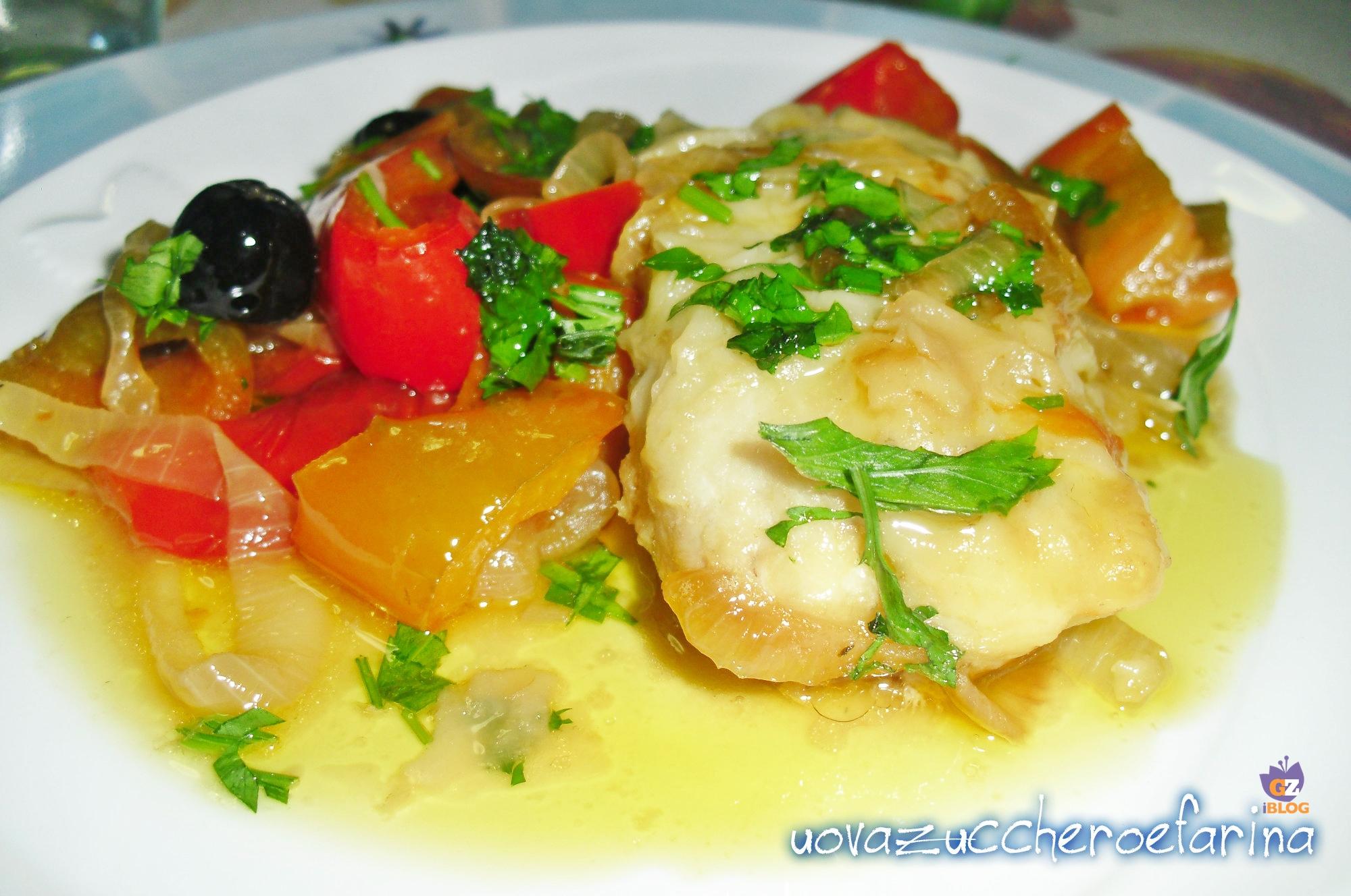 filetti di merluzzo con peperoni secondo piatto |uovazuccheroefarina - Cucinare Filetto Di Merluzzo