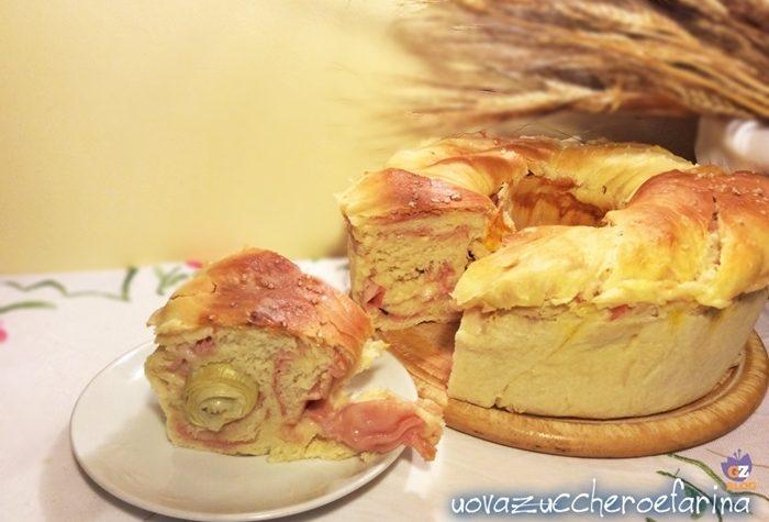Corona di pan brioche farcita