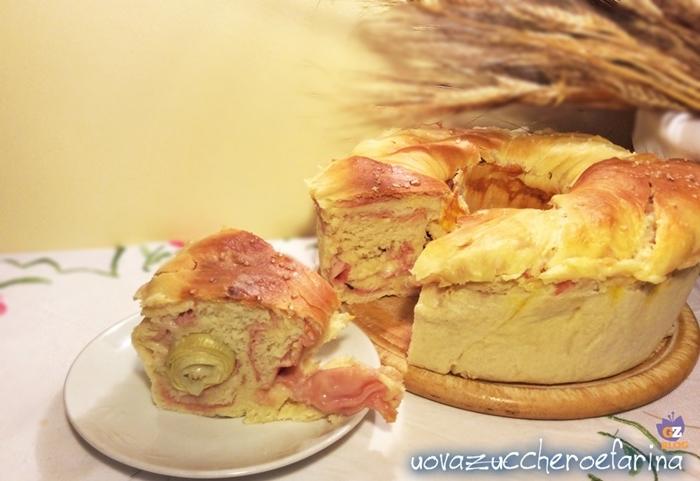 corona di pan brioche farcita 001