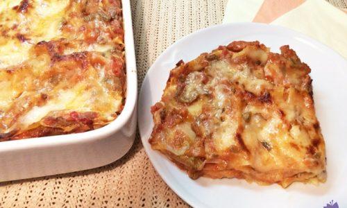 Lasagne con sugo di carciofi