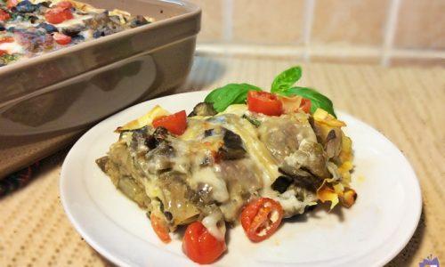 Lasagne con melanzane e pomodorini