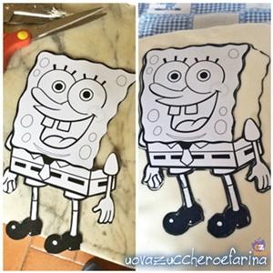 torta di Spongebob collage