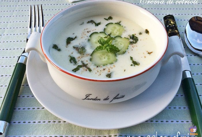 Crema di cetrioli fredda