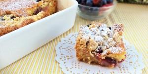 Crumb cake ai frutti di bosco