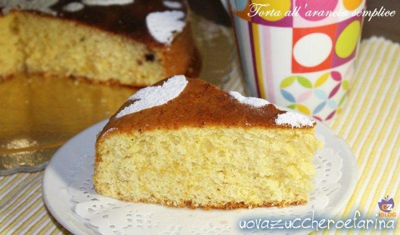 torta all'arancia semplice