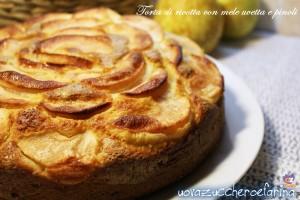 torta di ricotta con mele uvetta e pinoli 01