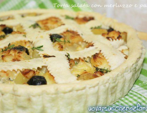 Torta salata con merluzzo e patate