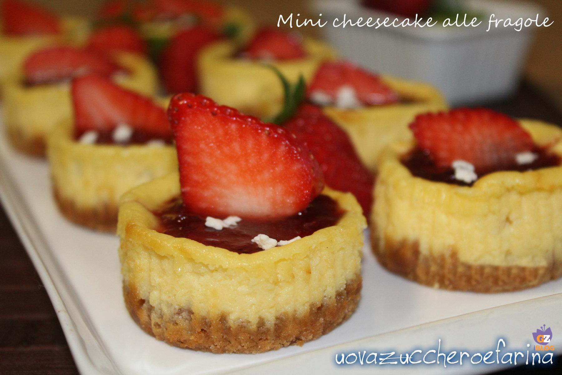 minicheesecake alle fragole uovazuccheroefarina orizz