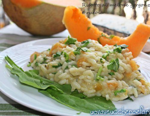 Risotto al melone gorgonzola e rucola
