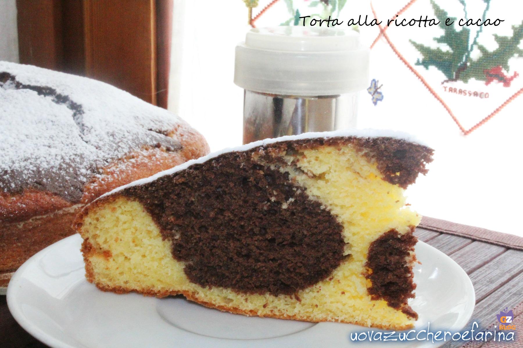 torta semplice di ricotta e cacao 01