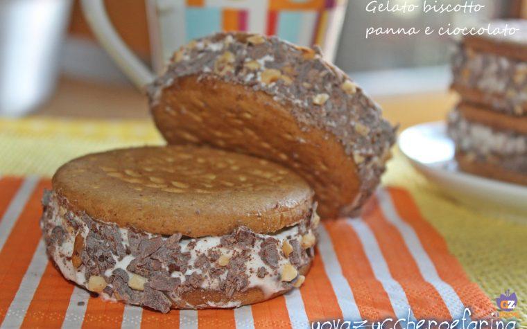 Gelato biscotto panna e cioccolato
