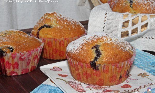 Muffins con i mirtilli