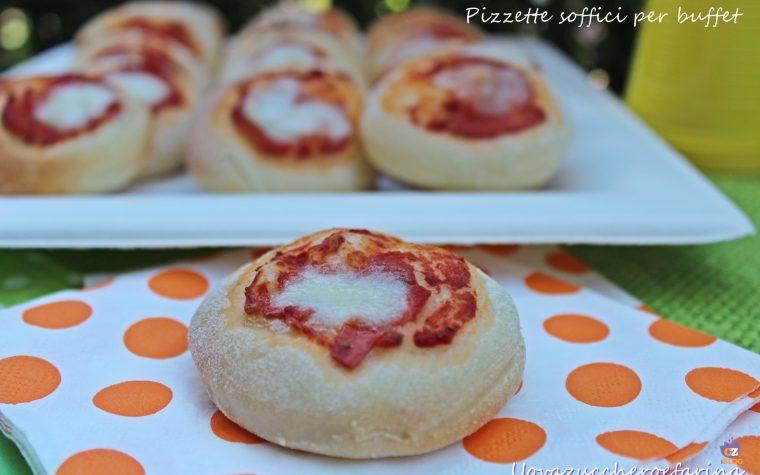 Pizzette soffici per buffet