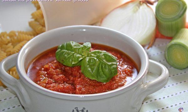 Salsa di pomodoro senza grassi