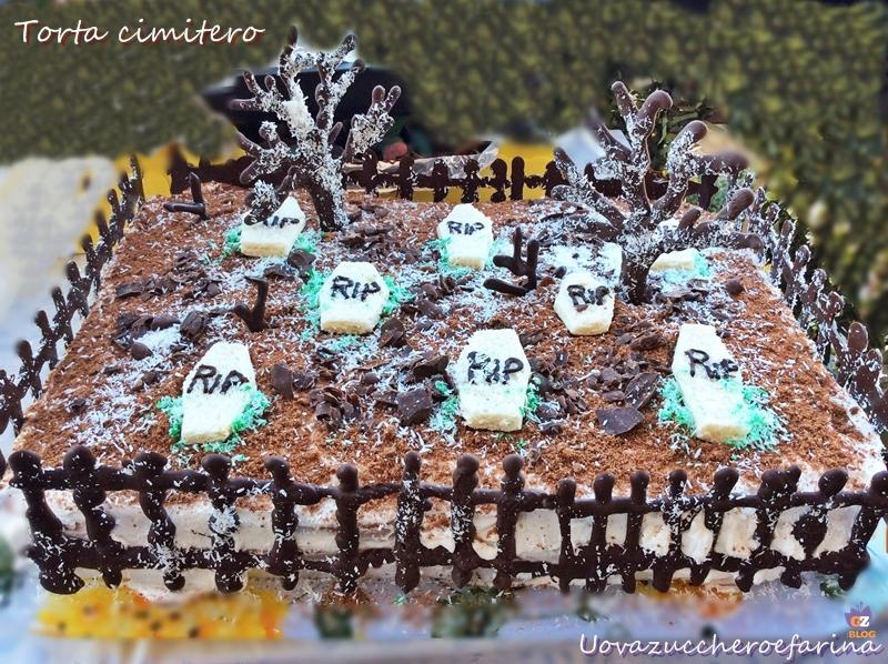 Torta per Halloween  torta cimitero 7f361b2e0f4e