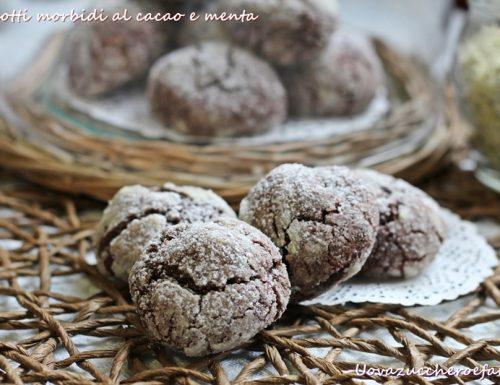 Biscotti morbidi al cacao e menta