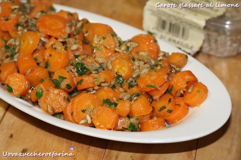 carote glassate al limone