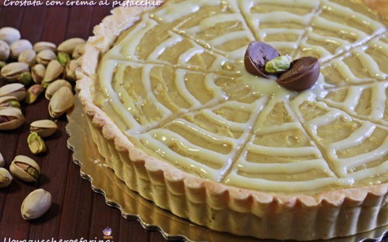 Crostata con crema al pistacchio