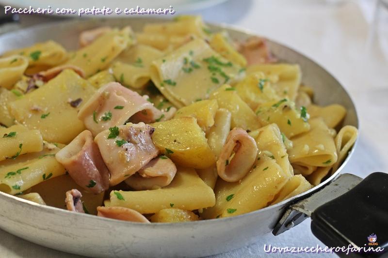 Paccheri con patate e calamari uovazuccheroefarina for Siti di ricette cucina