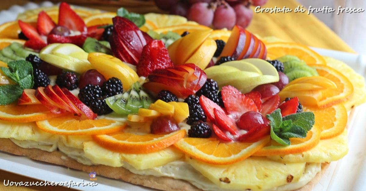 Préférence Crostata di frutta fresca | Uovazuccheroefarina HN53