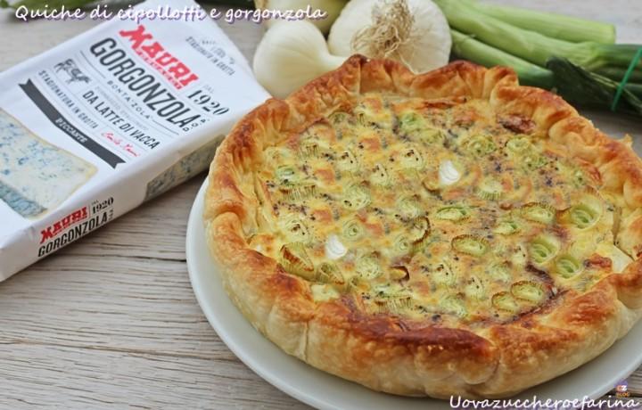 Quiche di cipollotti e gorgonzola