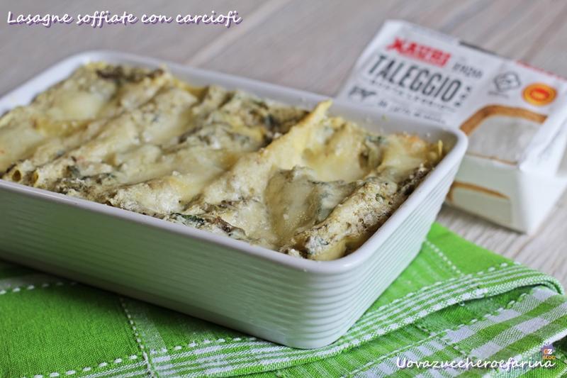 Lasagne soffiate con carciofi