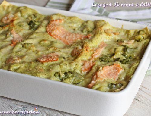 Lasagne di mare e dell'orto