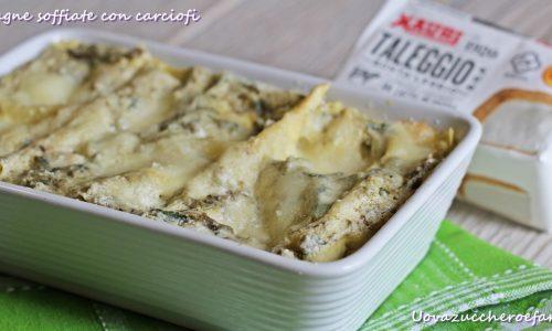 Lasagne soffiate con i carciofi