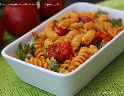 Fusilli con pomodorini e gorgonzola