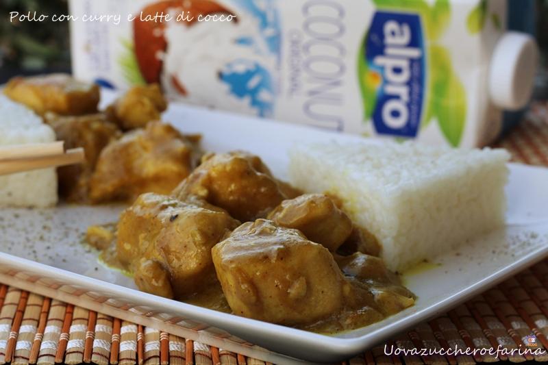 Pollo con curry e latte di cocco