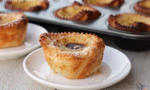 Tortine alla crema portoghesi (pasteis de nata)