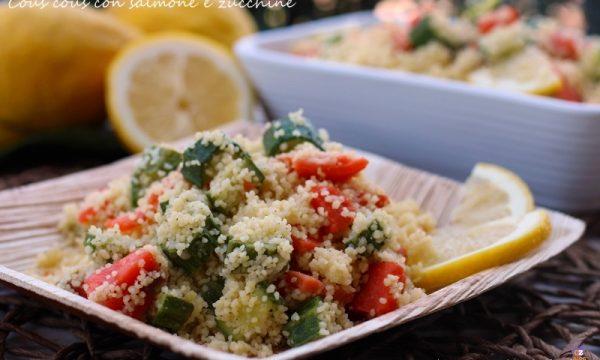 Cous cous con salmone e zucchine